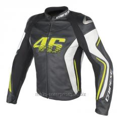 V R 46 Leather Motorcycle Jacket