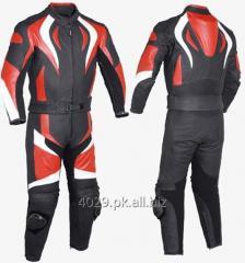 Real cow hide leather biker suit