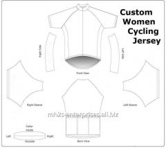 Women cycling jersey sportswear with logo
