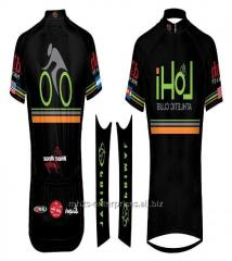 Custom cycling sublimated sports jersey model