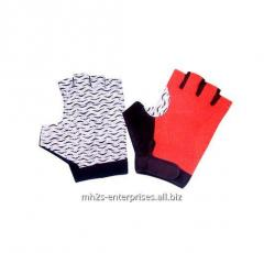 Road cycling gloves/synthetic leather biker gloves