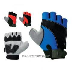Color road cycling gloves/synthetic leather biker gloves