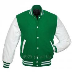 THE MEN VARSITY BOMBER LEATHER JACKET