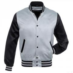 MEN SATIN BOMBER JACKET