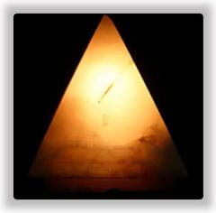 Onyx Pyramid Lamp