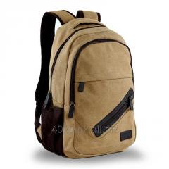 Cotton waxed canvas school bag