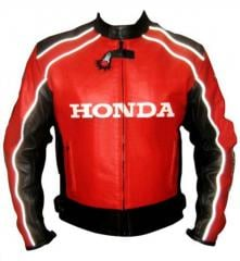 Honda Leather Racing Jacket Top Rider