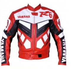 Red and Black Yamaha Leather Racing Jacket