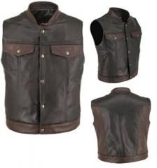 Motorcycle Vest Leather