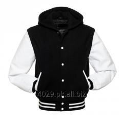 MEN VARSITY BOMBER LEATHER JACKET