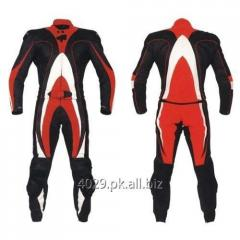 Real cow hide leather biker suit