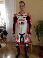 Custom Motorbike racing suit cowhide leather