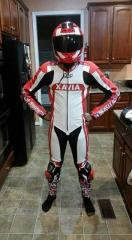 Motorbike leather customized logo Suit offer