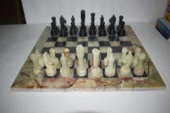 Green & Black Marble/Onyx Chess Set