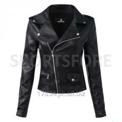Women Motorcycle Synthetic Leather Jacket