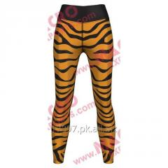 Tiger Print Leggings For Women, High Quality Digital Printed Leggings, 73% Polyester or 27% Elastane,