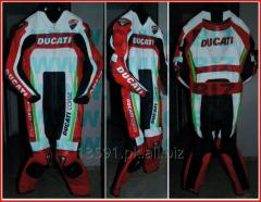 DUCATI MOTOR BIKE LEATHER SUIT