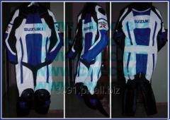 SUZUKI MOTOR BIKE LEATHER SUIT