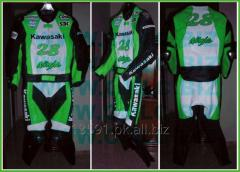 KAWASAKI NINJA MOTOR BIKE LEATHER SUIT