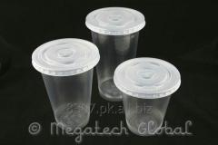 Disposable PP Ring & Plain Cup w/Flat & Dome Lid