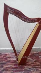 Celtic Harp 36 Strings with brass levers with bag & Key.