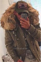 Fur trimmed quilted jacket