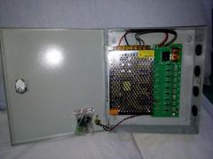Power Supply 9 Channel System Box for CCTV; Model