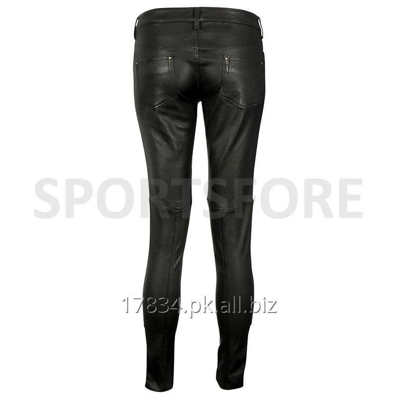 women_black_genuine_leather_slim_fitting_tight
