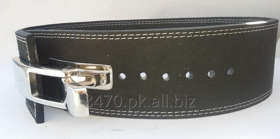 power_weight_lifting_belt_with_lever_buckle