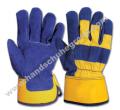 Blue Yellow worker gloves