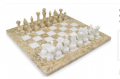 """Coral and White Chess Set 16"""""""