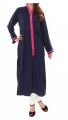 Latest Roll-Up Sleeve Braided Belt Dark Blue Tunic 2013