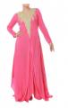 Pink Preety Sexy Sleeve Self Pattern Peach Tunic 2013