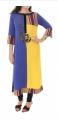 Unique Blue chiffon Blouse Georgeous Krancang Embroidary Moroccan Tunic Dress