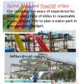 Fiberglass Spiral, tube and free-fall slides