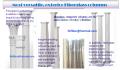 Fiberglass composite columns