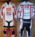 Professional leather racing suit