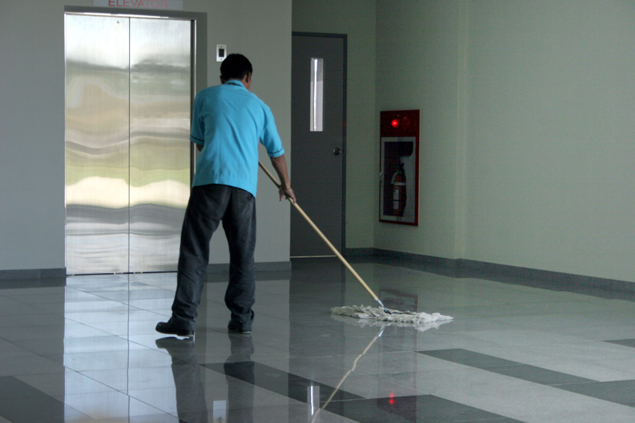Order Janitorial and laundry services