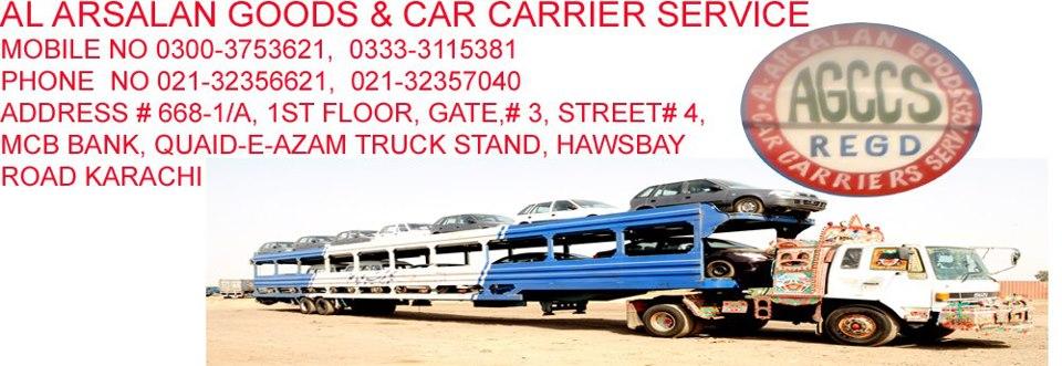 Order AL ARSALAN GOODS & CAR CARRIER SERVICE