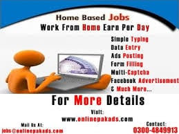 Order Home based internet and computer jobs