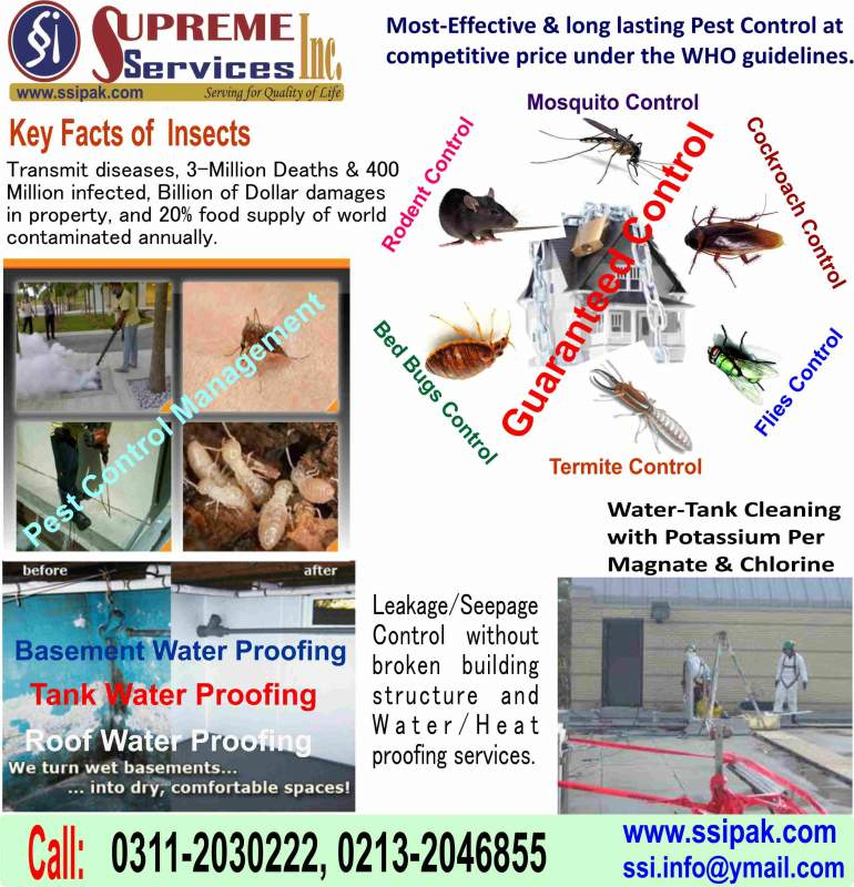 Order Pest Control, Tank Cleaning & Seepage Control Services