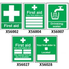 General maintenance and safety signs