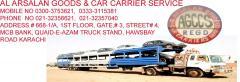 AL ARSALAN GOODS & CAR CARRIER SERVICE