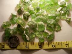 Semi-precious Paridot Stones