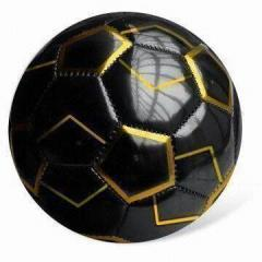 PU FOOTBALL TWO TONE FOOTBALL BLACK /GOLDEN