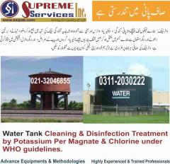 Water Tank Cleaning with disinfection treatment
