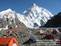 K2 base camp Concordia & Gondogoro La Pass Trek On 2nd August 2014 Karakoram Pakistan.
