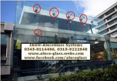 Spider Glass and Spider Glazing System on Building Elevations Facades Fronts