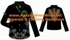 Men`s, Women's Hip Hop Urban Design Formal Woven Shirts