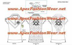 Women's Hip Hop Urban Polo Shirt Design